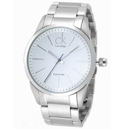 cK 洗練潮流潮流腕錶(白面/不鏽鋼)
