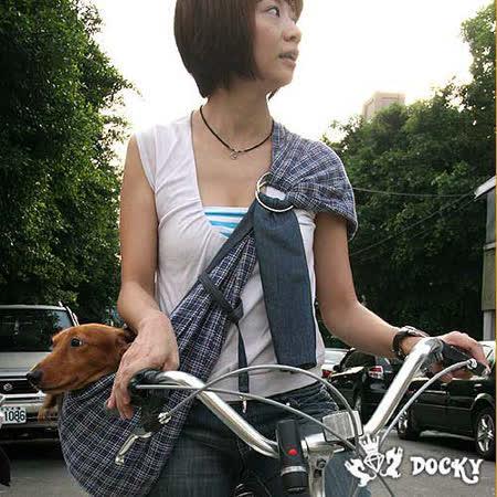 【私心大推】gohappy快樂購物網*Docky設計精品*休閒方格雙面寵物背包~休閒藍評價大 遠 百 華納 威 秀
