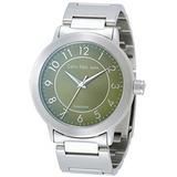 cK 鐘點情人時尚腕錶(綠/大)