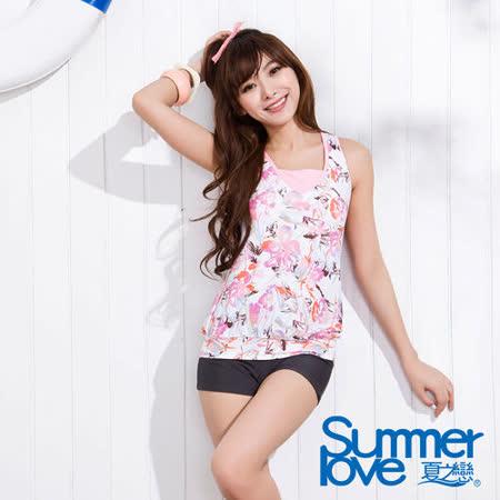 【SUMMERLOVE 夏之戀】粉彩俏意長版二件式泳衣S15714