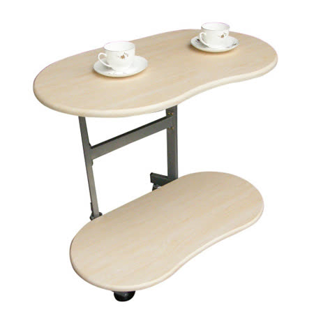 環球-【耐重型】雙層-活動式餐桌.茶几【三色供選擇】