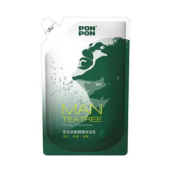 澎澎MAN淨化沐浴乳-茶樹精油補充包700ml