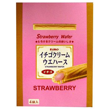 EURO草莓威化棒100g