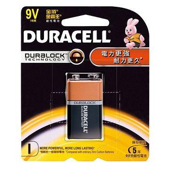 金頂金霸王 鹼性電池9V 1入