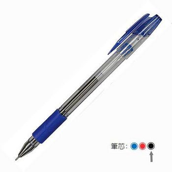 白金牌0.5mm中性筆3入(黑)GE-10