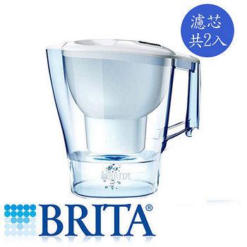 德國 BRITA Aluna愛奴娜濾水壺2.4L+濾芯2入