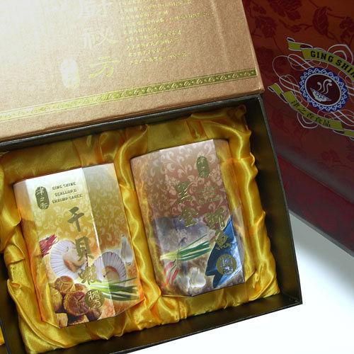 【山中傳奇】津之香干貝蝦+黑鮪魚醬禮盒組(各一瓶)