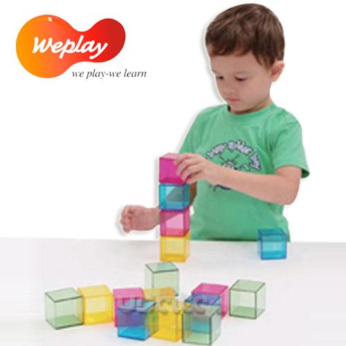 Weplay身體潛能開發~創作互動~彩虹積木16塊裝