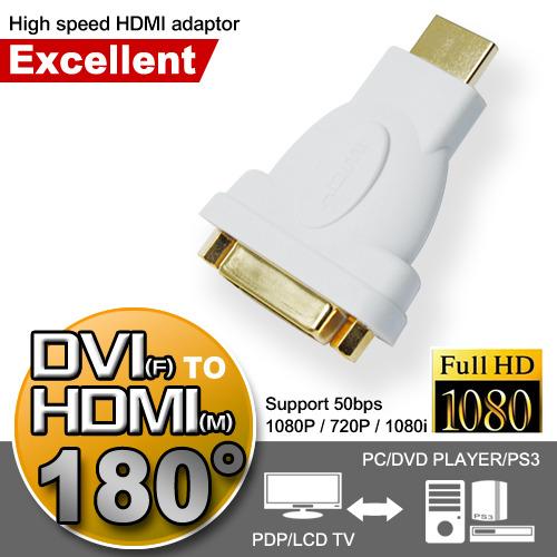 超穩定DVI^(公^)對HDMI^(母^)極速轉接頭