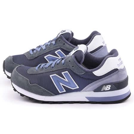 New Balance 女款 麂皮復古運動鞋WL515CCC-灰藍