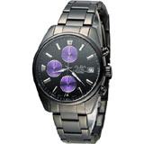 雅柏 ALBA 簡約時尚計時腕錶  VD57-X060SD AM3249X1 黑x紫