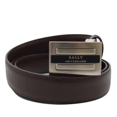 BALLY 時尚配件 都會皮革雙面皮帶.深咖 110CM