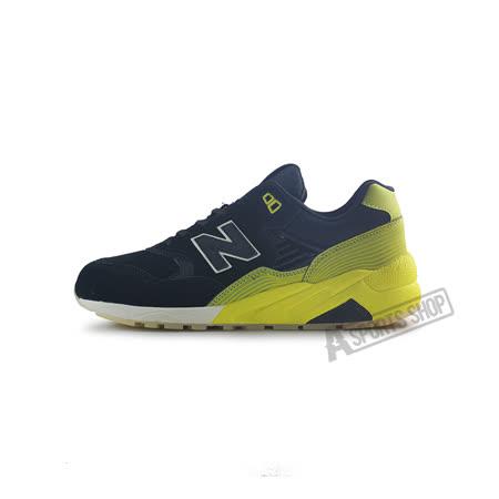 (男女)NEW BALANCE 復古鞋 黑/黃-MRT580UG