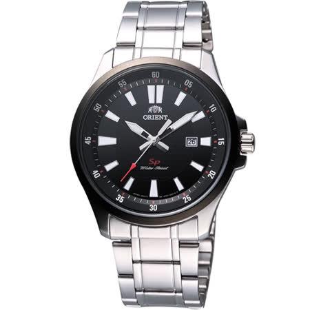 ORIENT 東方錶 紳士時尚SP鋼帶腕錶-黑/銀 FUNE1001B