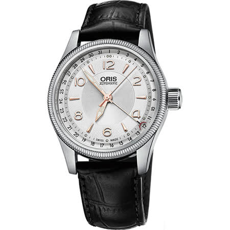 Oris Big Crown 大表冠指針式日期錶-銀x黑/40mm 0175476794031-0752076FC