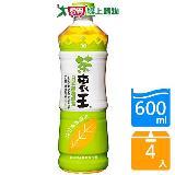 統一茶裹王日式無糖綠茶600ML*4