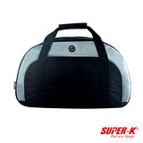 美國品牌【SUPER-K】手提、側斜揹二用旅行包-黑