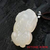 石頭記 白玉髓貔貅項鍊-財運不絕