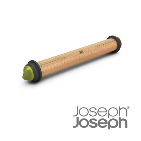 Joseph Joseph英國創意餐廚★厚度可調桿麵棍(灰綠)★