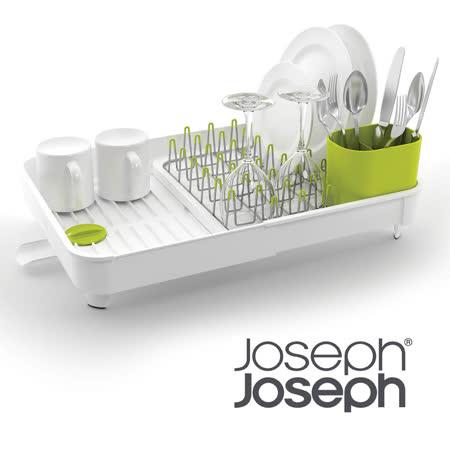 Joseph Joseph英國創意餐廚★可延伸杯碗盤瀝水組(白綠)★