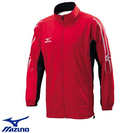 Mizuno Slim Fit 合身版 MC LINE 針織運動外套 32TC603462(紅X深丈青)