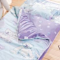 OLIVIA  寶貝熊 藍 100%精梳純棉 舖棉兩用加大型兒童睡袋