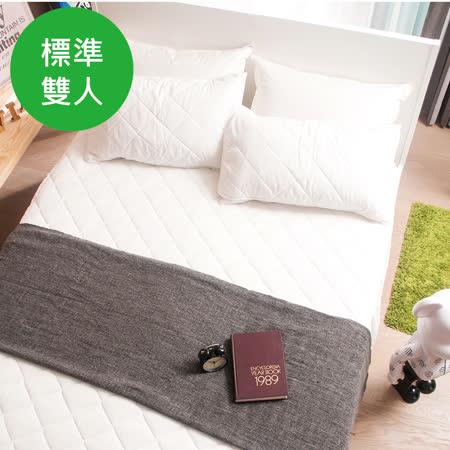 OLIVIA  標準雙人尺寸 天絲TENCEL舒柔棉床包式保潔墊
