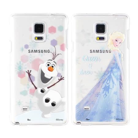 Disney Samsung Galaxy Note 4 彩繪透明保護硬殼-冰雪奇緣