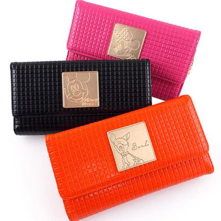 Disney 5.5吋通用時尚五金掀蓋皮革斜背手機袋