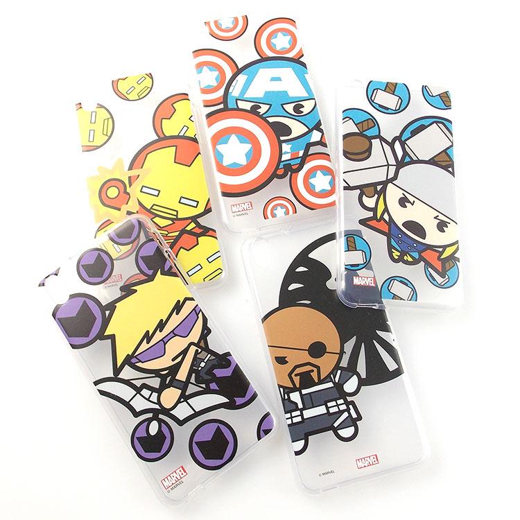 MARVEL HTC Desire 816 Kawaii復仇者聯盟透明保護軟套~人物