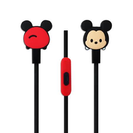迪士尼可愛玩偶造型耳麥 Disney TSUM TSUM 入耳式立體聲耳機麥克風【米奇款】