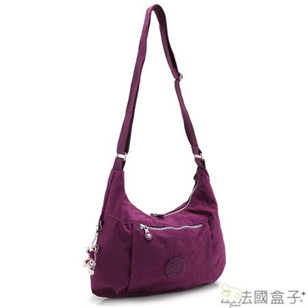 【法國盒子】極簡美學超輕量二用包(紫紅)940