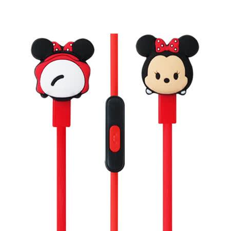 迪士尼可愛玩偶造型耳麥 Disney TSUM TSUM 入耳式立體聲耳機麥克風【米妮款】