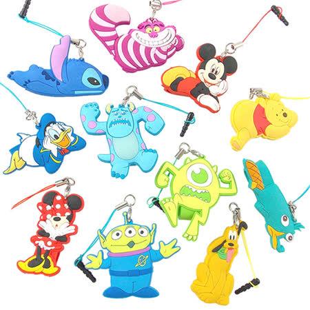 Disney 可愛全身造型耳機防塵塞吊飾捲線器