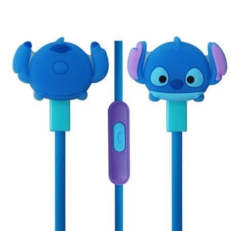迪士尼可愛玩偶造型耳麥 Disney TSUM TSUM 入耳式立體聲耳機麥克風【史迪奇款】