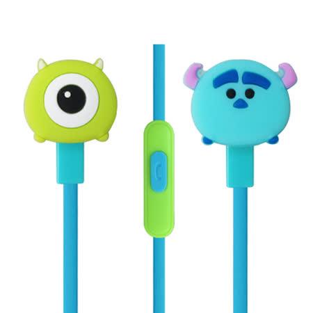 迪士尼可愛玩偶造型耳麥 Disney TSUM TSUM 入耳式立體聲耳機麥克風【大眼&毛怪款】