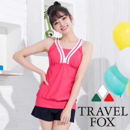 【夏之戀TRAVEL FOX】甜美款長版三件式泳衣(C15717)