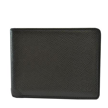 Louis Vuitton LV M30952 Multiple 質感Taiga全皮革壓紋短夾.黑灰_預購