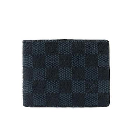 Louis Vuitton LV N62239 Slender 黑棋盤格紋雙折短夾_預購