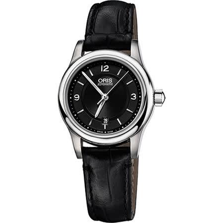 Oris Classic 古典系列品味時尚機械女錶-黑/28.5mm 0156176504034-0751411