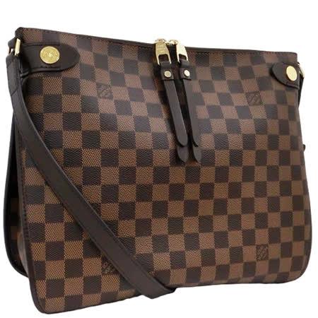 【網購】gohappy線上購物Louis Vuitton LV N41425 Duomo 棋盤格紋斜背信差包_預購效果如何高雄 市 sogo