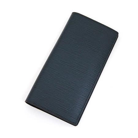 Louis Vuitton LV M60615 Brazza EPI水波紋皮革多卡零錢長夾.深藍_預購