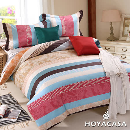 《HOYACASA 天使之城》雙人四件式純棉兩用被床包組