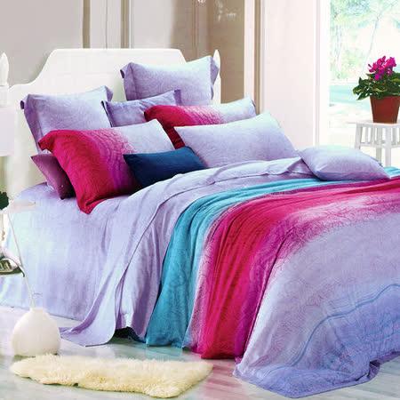 【Betrise唯美夜色】雙人100%天絲TENCEL四件式兩用被床包組