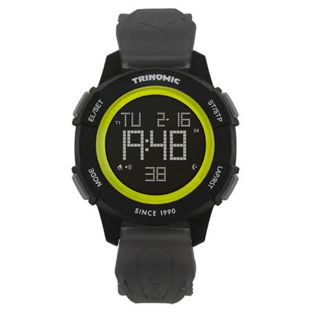 PUMA  TRINOMIC復古聯名款運動腕錶-灰黑