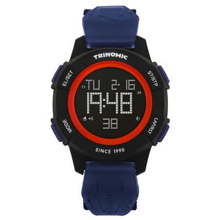 PUMA  TRINOMIC復古聯名款運動腕錶-藍黑