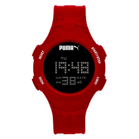 PUMA  舞動巴迪休閒運動腕錶-紅