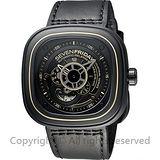 SEVENFRIDAY P2-2 解構世界自動上鍊機械錶-黑/47mm P2-2