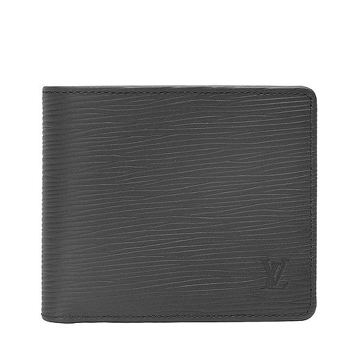 Louis Vuitton LV M60662 Multiple EPI水波紋皮革雙折短夾