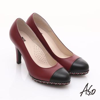 【勸敗】gohappy快樂購【A.S.O】優雅時尚 珠光真皮雙色鍊帶高跟鞋(紅)效果如何新光 三越 新天地
